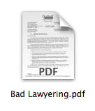 Bad Lawyering
