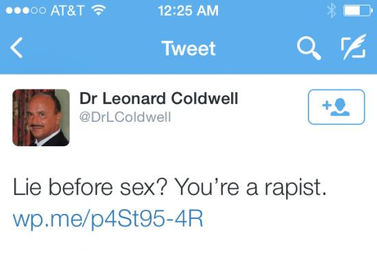 leonard coldwell you're a rapist